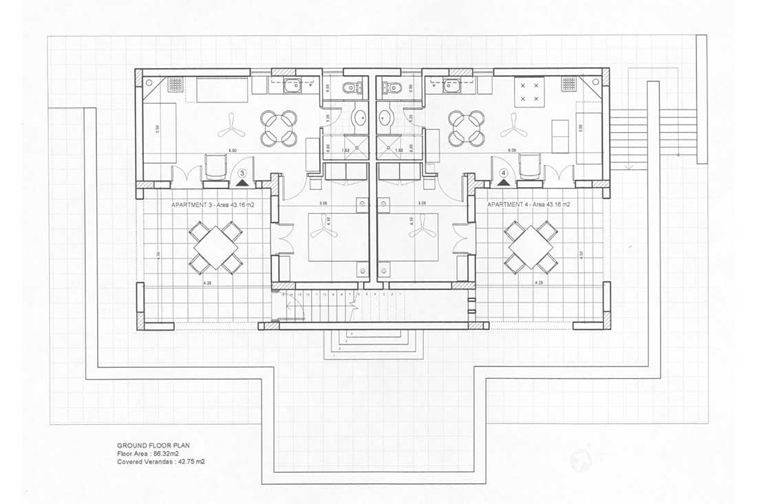 The House In Keramoto - Ground Floor Plan
