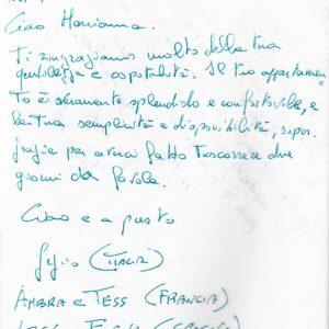 Το Σπιτι στα Δόκανα, Σχόλια Πελατών, Ιταλία