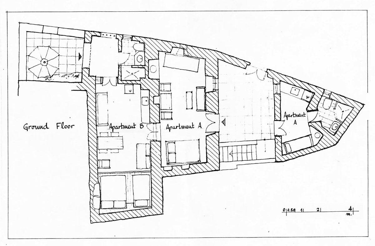 Το Σπίτι Στα Δόκανα - Κάτοψη Ισογείου